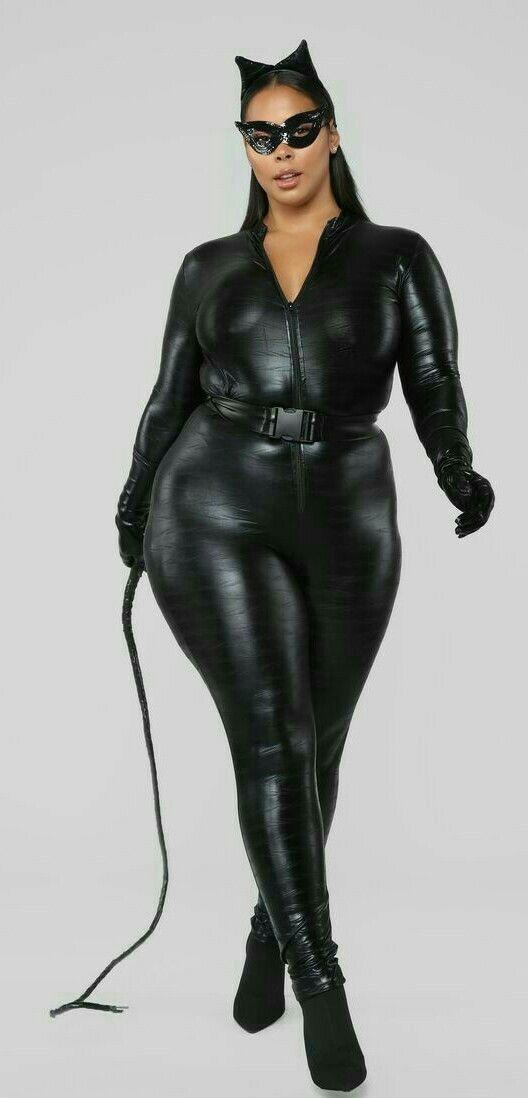 Plus Size Fashion Model Tied Chains Stock Photo