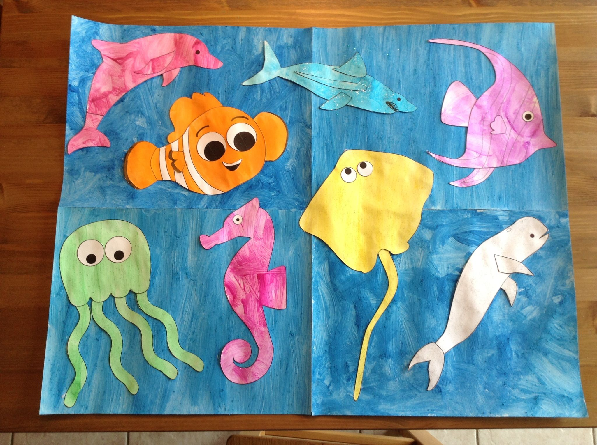 Ocean Craft Using Printables From Learncreatelove Com Preschool