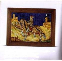 "CERAMIC PANEL (FRAMED): GUIDORICCIO DA FOGLIANO: 20.8"" (50cm) Long x 18"" (45cm) Wide.    EXCLUSIVELY UBALDO GRAZIA this pattern is for special order only."