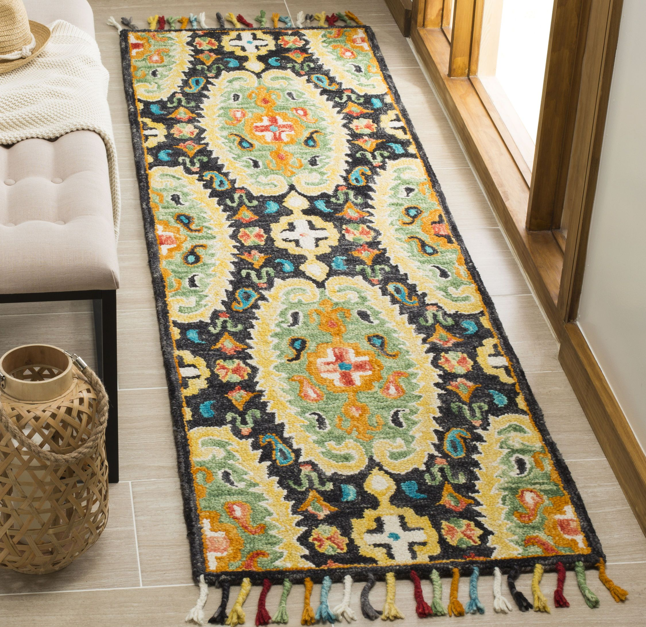 Blm454a Color Charcoal Gold Size 8 X 10 Area Rugs Southwestern Area Rugs Rugs