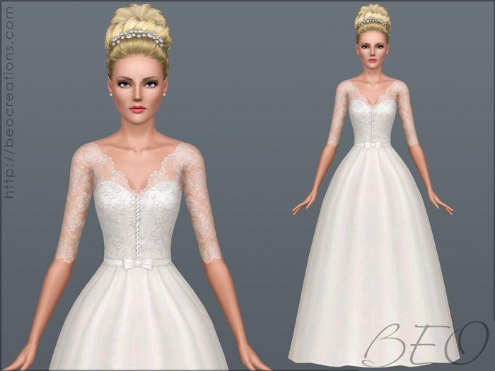 Download Vestiti Da Sposa The Sims 3.Beo Creations Wedding Dress 30 By Beo Sims Vestiti The Sims