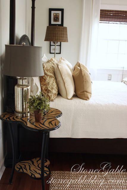 Sofistikoitunut tyyli rauhoittaa makuuhuoneen ja tekee siitä ihanan paikan rentoutua
