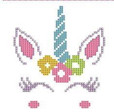 Unicorn Birth Announcement Cross Stitch Pattern Custom Pattern unicorn cross stitch modern cross stitch rainbow unicorn baby unicorn