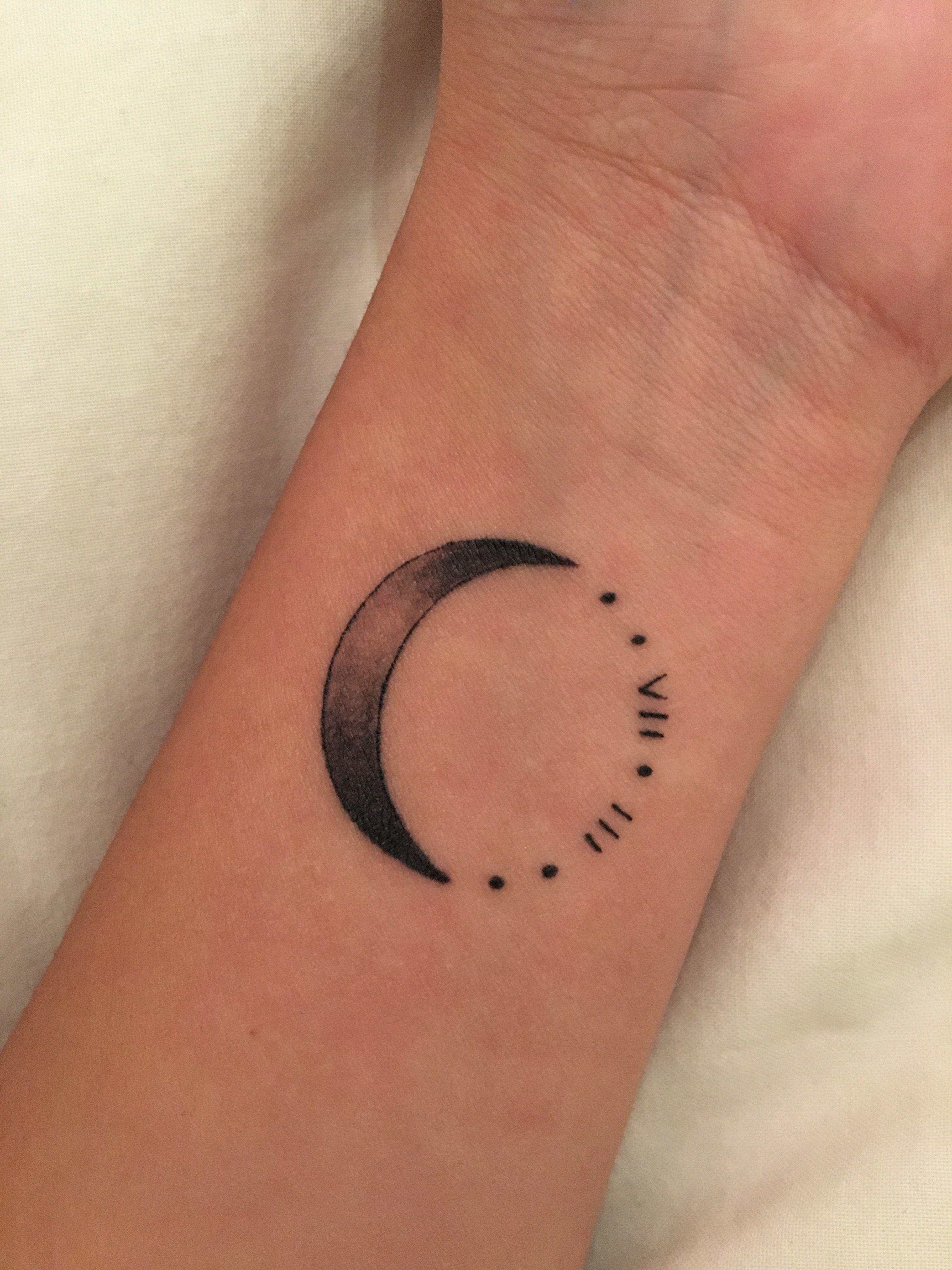 Crescent Moon Tattoo Small Moon Tattoos Moon Tattoo Wrist Moon Tattoo