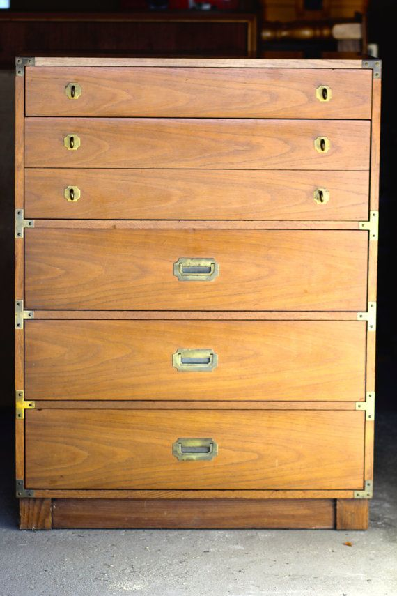 Drexel Mid Century Campaign Dresser By Themodcottage On Etsy