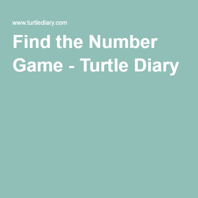 Find the Number Game - Turtle Diary