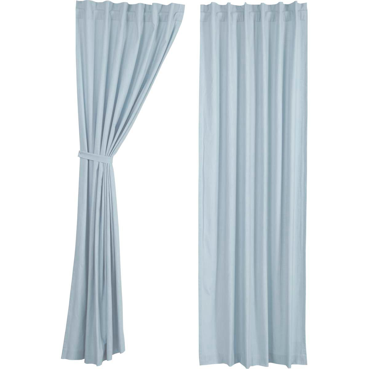Regina Light Blue Panel Curtains 108x55 Romanblindsandcurtains
