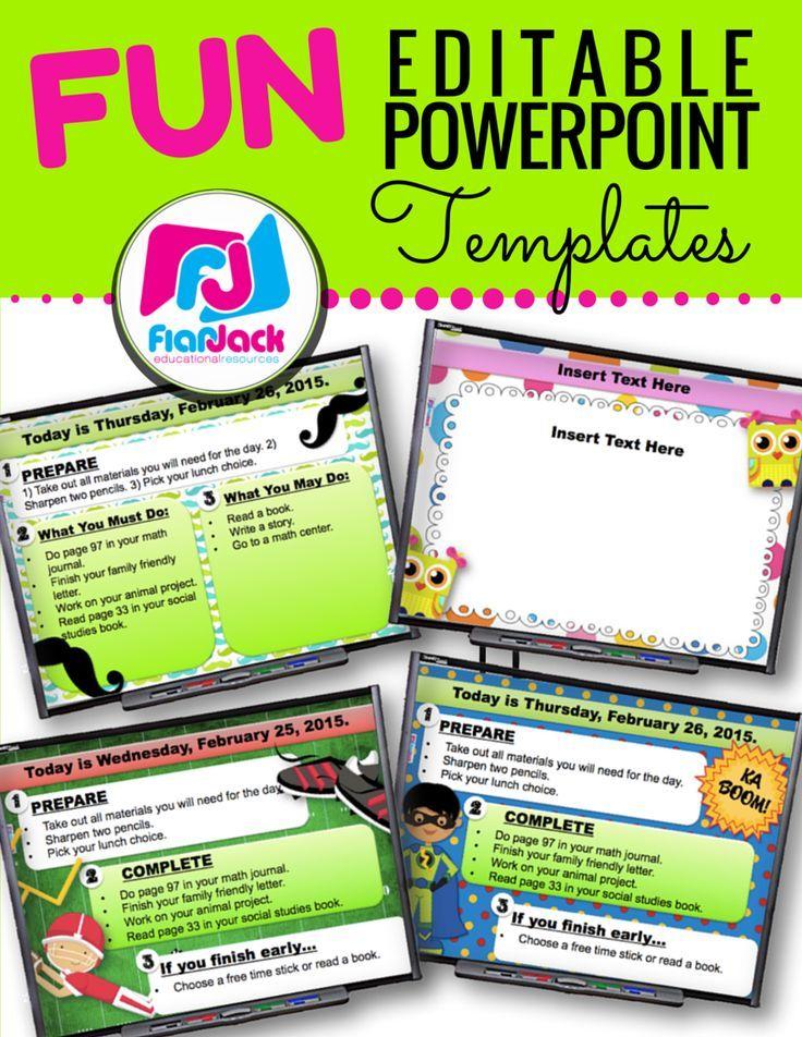 Fun Editable Powerpoint Templates Bundle New Teachers Pinterest