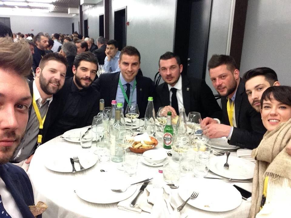 con Marco Leodari, Alessio Costa, Fabio Pizzolato, Eddy Masiero, Stefano Giacomoni e Marta Stocco (ph. Michele Visentin)