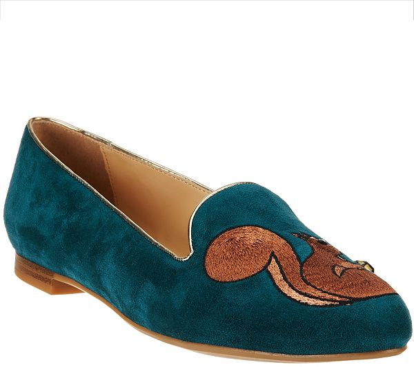 Put a little whimsy in your step with these C. Wonder suede loafers. QVC.com
