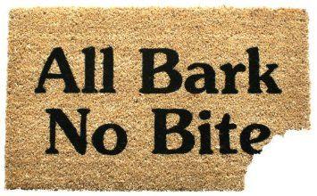 Entryways Non Slip Coir Doormat, 17-Inch by 28-Inch, All Bark: No Bite