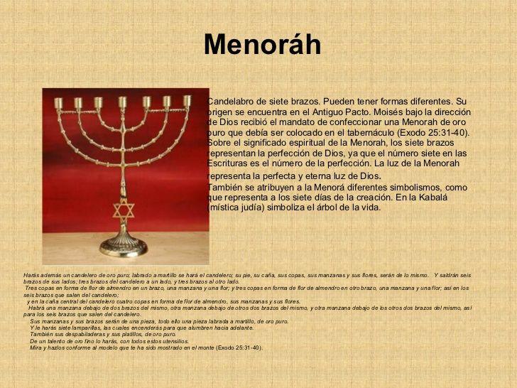 Simbolos Judios Menorah Judios Candelabro Judio