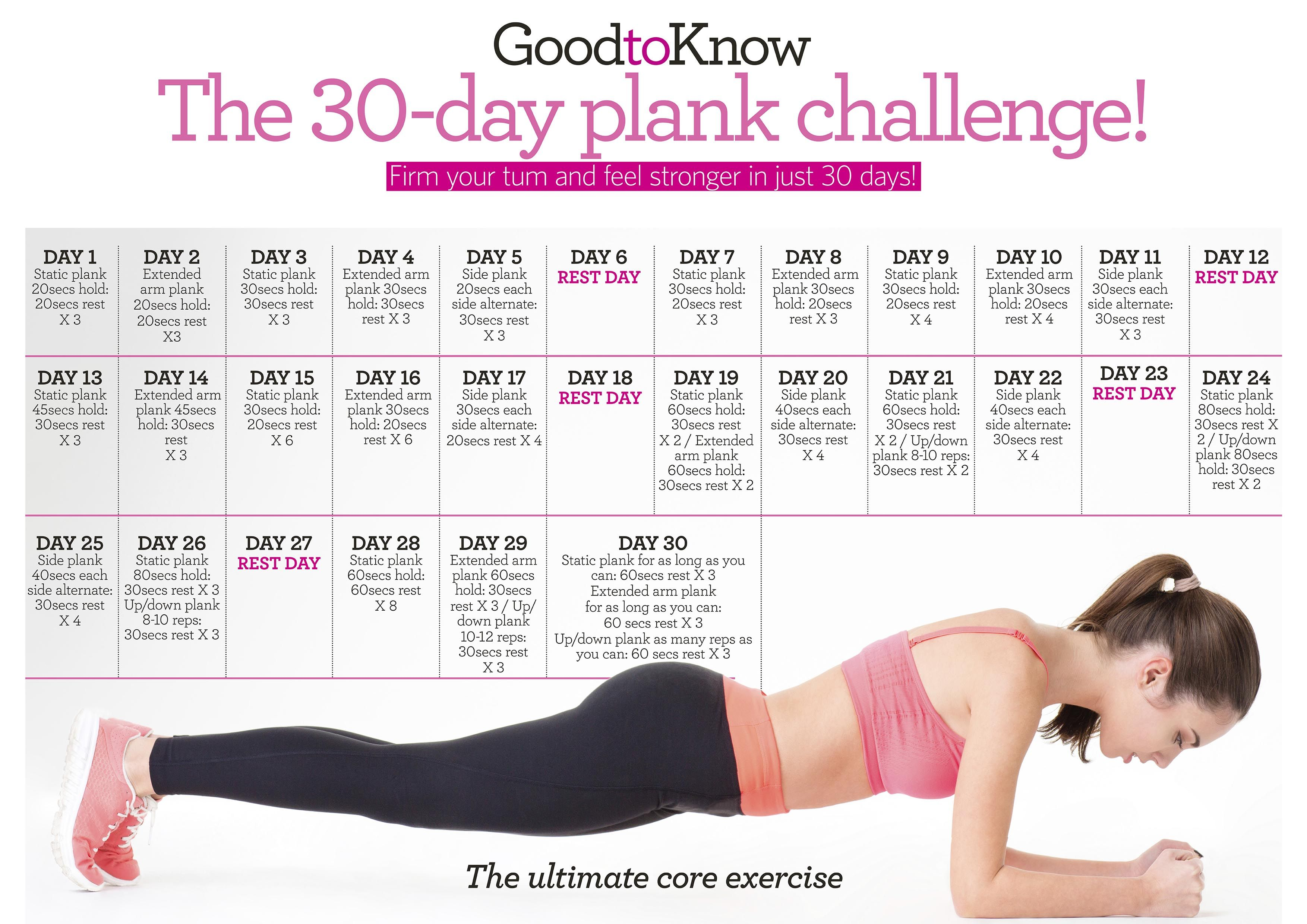Plank Challenge How To Master The Plank Fitness Pinterest Plank Challenge 30 Day Plank