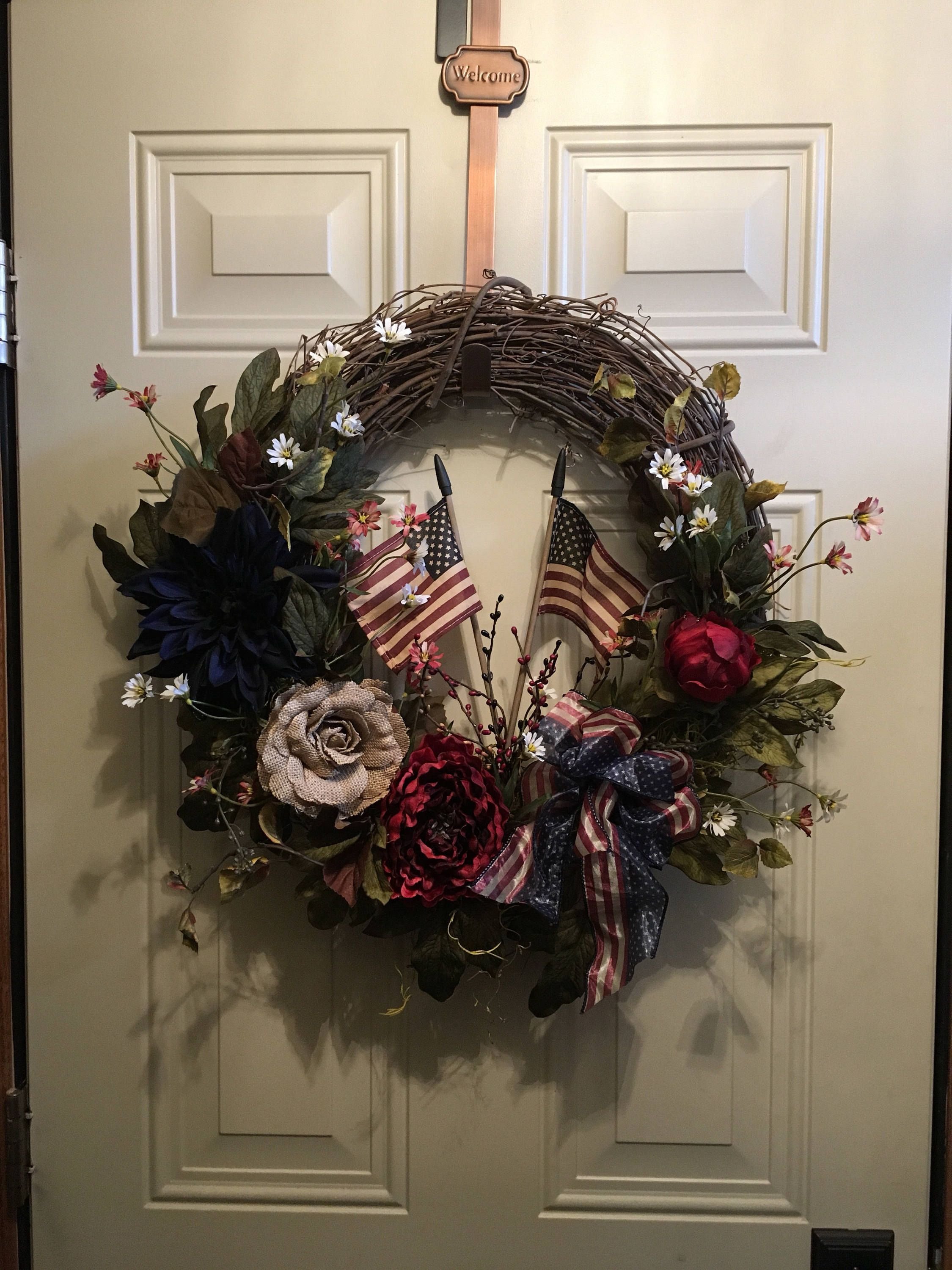 Americana christmas ornaments - Americana Door Wreath Fourth Of July Wreath Independence Day Wreath Memorial Day Wreath