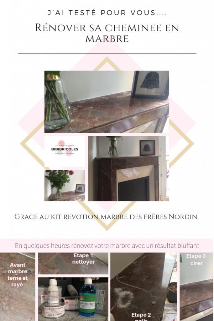 Comment Renover Du Marbre En 3 Etapes J Ai Teste Bibibricole Nettoyer Marbre Cheminee Marbre Renover Du Marbre