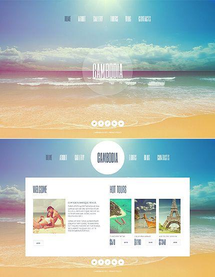 Travel Agency Website Template Templates Pinterest Template