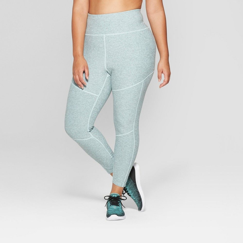 3a7f2f79338401 Women's Plus Mini Stripe 7/8 High - Waisted Leggings - JoyLab 1X, Clearwater