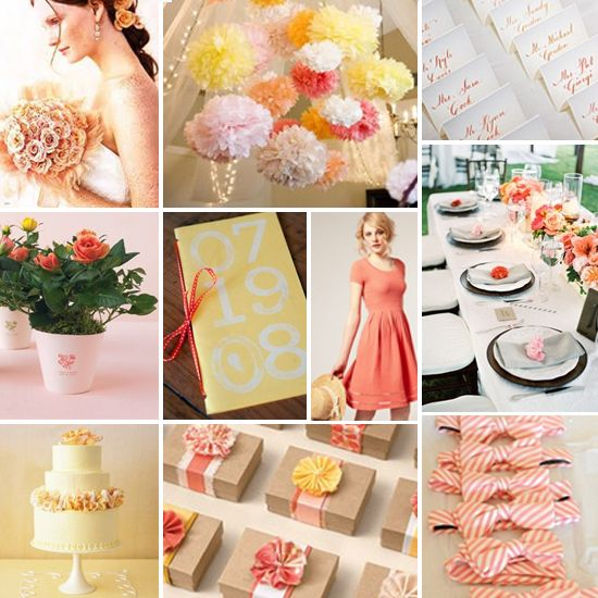 sorbet wedding palette :: raspberry, lemon, and peach