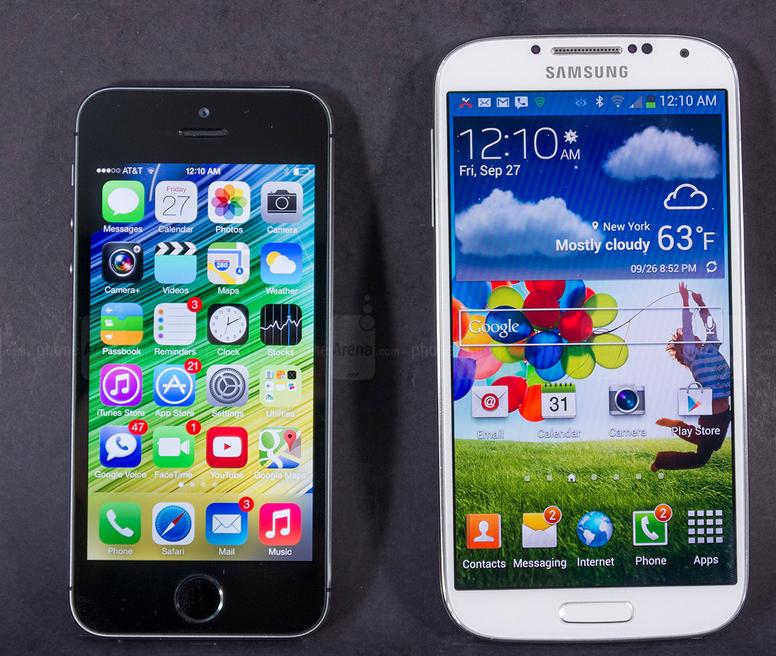 samsung galaxy s4 vs iphone 5s camera