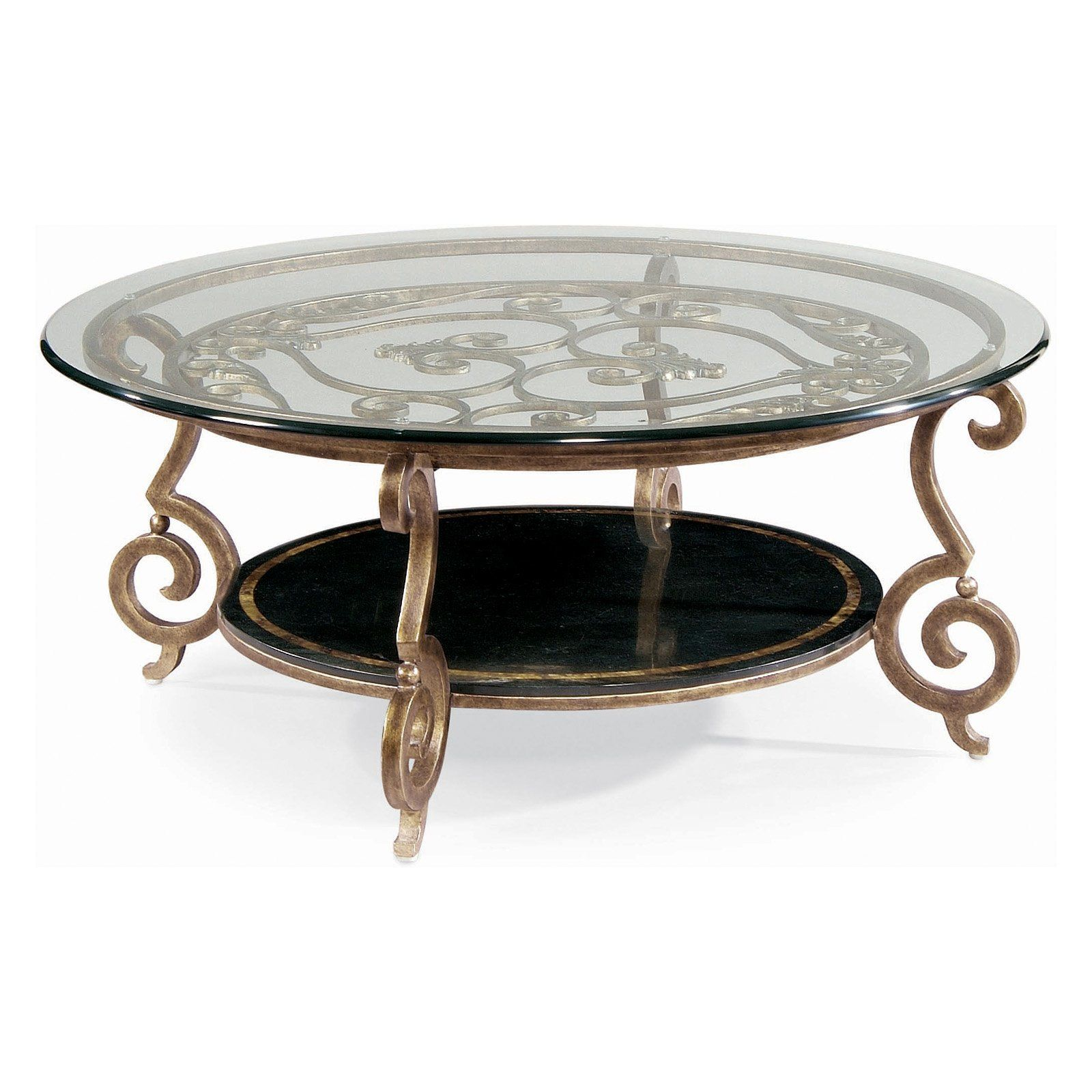 Have to have it Bernhardt Zambrano Round Glass Top Coffee Table