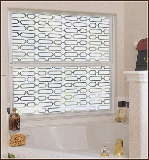 Avalon Semi Privacy Window Film Static Cling Decorative