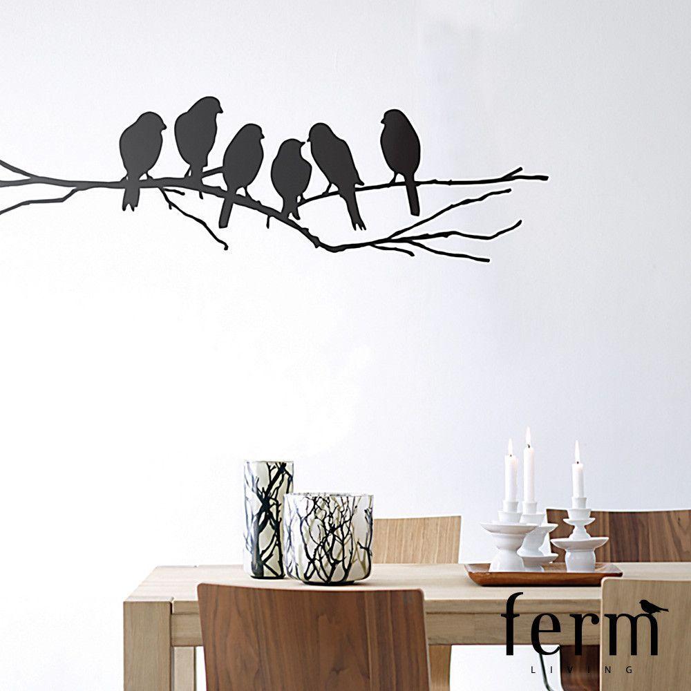 Ferm Living Lovebirds Wall Sticker Wall Sticker Design Wall