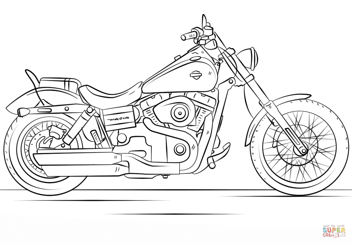 Harley Davidson Motorcycle Coloring Page From Motorcycles Category Select From 27065 Printable Crafts Of C Motorcycle Drawing Bike Drawing Harley Davidson Art