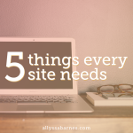 5 Things Every Successful Website Needs