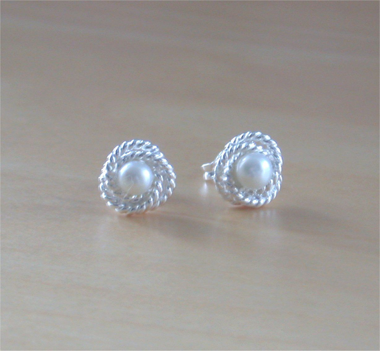 white silver stud posts collections for pearl lush mm designs her products sterling with studs jewellery
