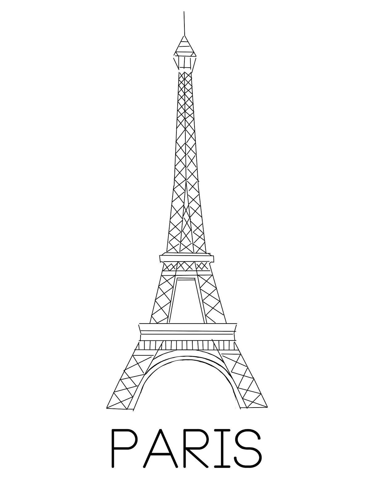 Wonderful Day Eiffeltoren Kunst Parijs Tekening Eiffeltoren Tekening