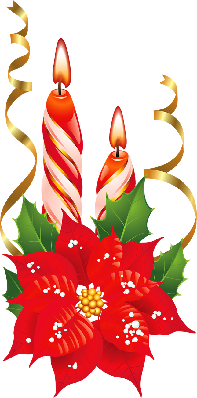Christmas candle clipart candles free