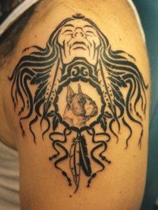 native american arm tattoos for men | The native American tribal ...