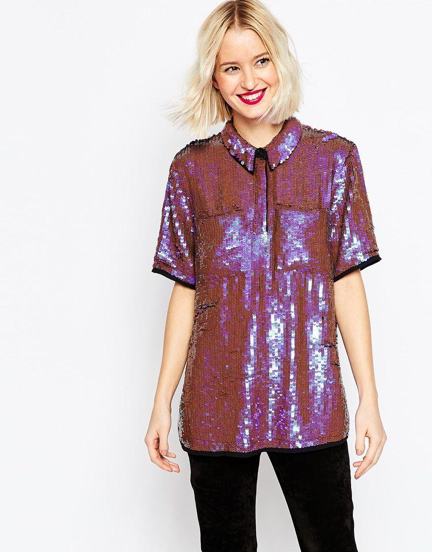 3faf0bc41aa ASOS+Sequin+Shirt