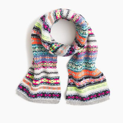Girls' Fair Isle scarf : cold weather | J.Crew | Accessories ...