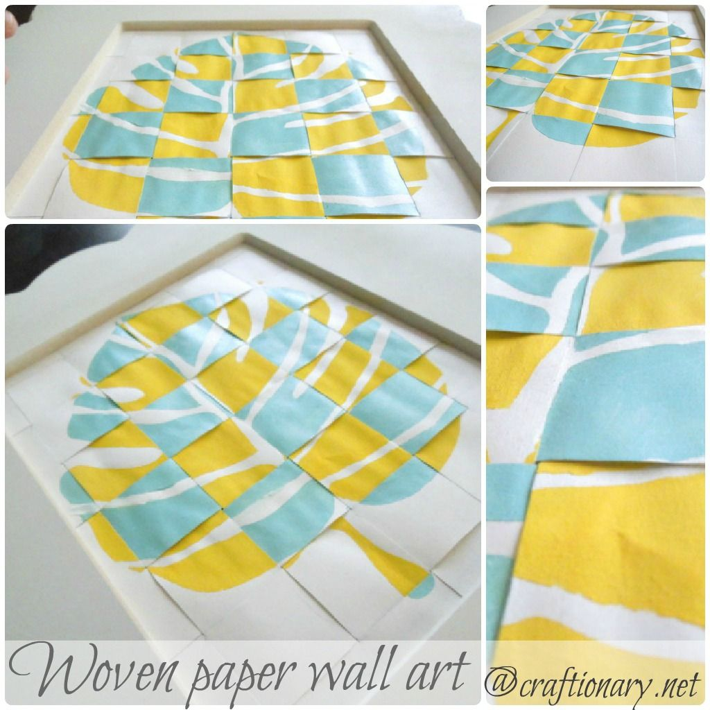 Woven stencil leaf with 3D effect (tutorial | 3d wall art, Stencil ...