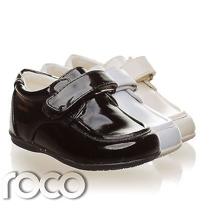 Toddler Black Shoes Boys Wedding Page Boy Formal