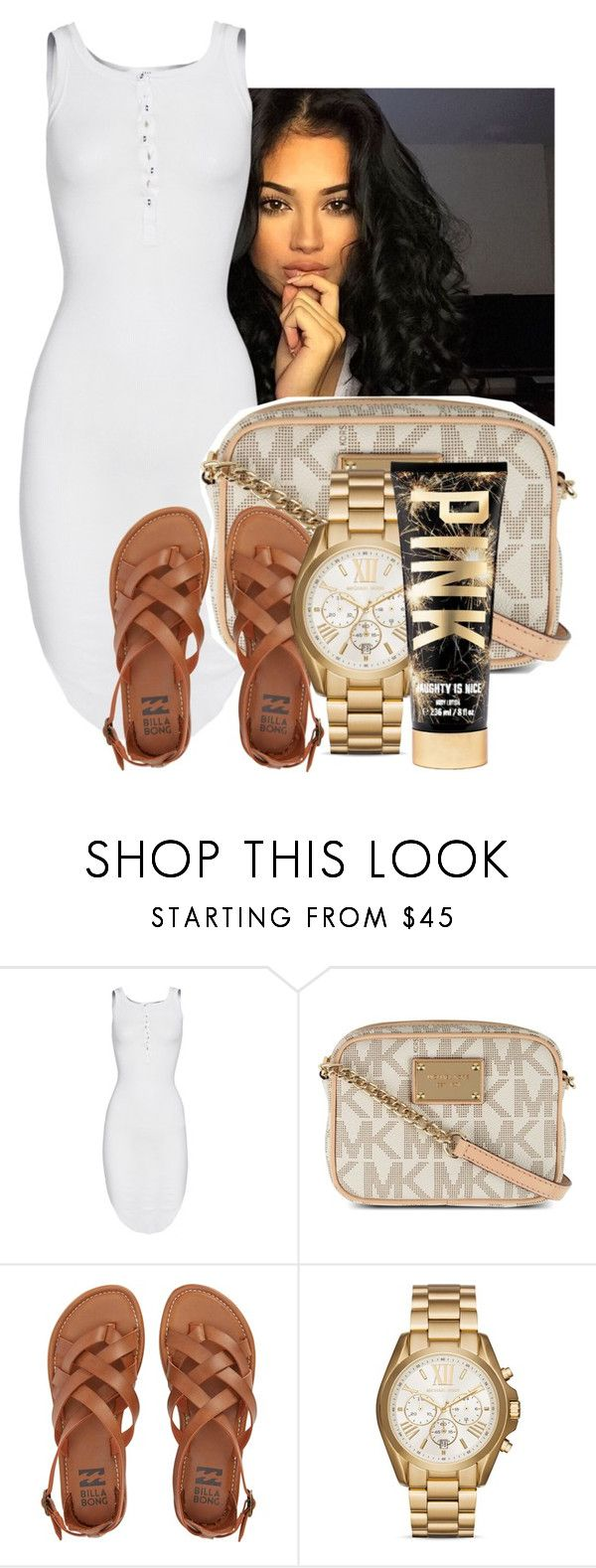 """""""damn babe"""" by gvlden-bvbx ❤ liked on Polyvore featuring ISABEL BENENATO, MICHAEL Michael Kors, Billabong and Michael Kors"""