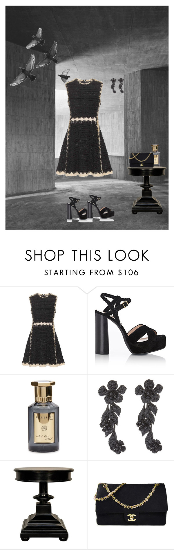 """""""Untitled #133"""" by bertasoares ❤ liked on Polyvore featuring Lanvin, Shay & Blue, Valentino, Noir and Chanel"""