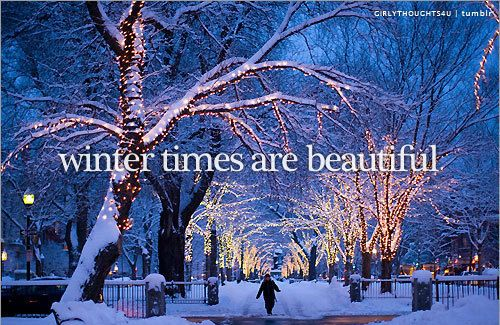 Winter times are beautiful!