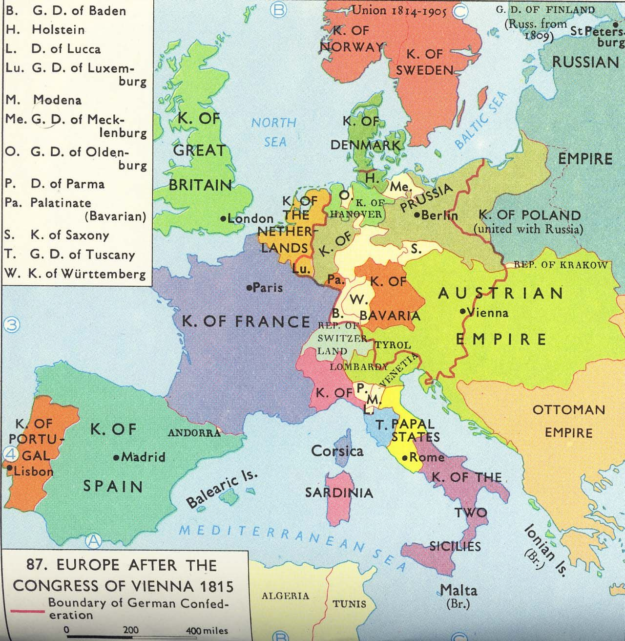 1815 europe after the congress of vienna french revolution 1815 europe after the congress of vienna sciox Choice Image