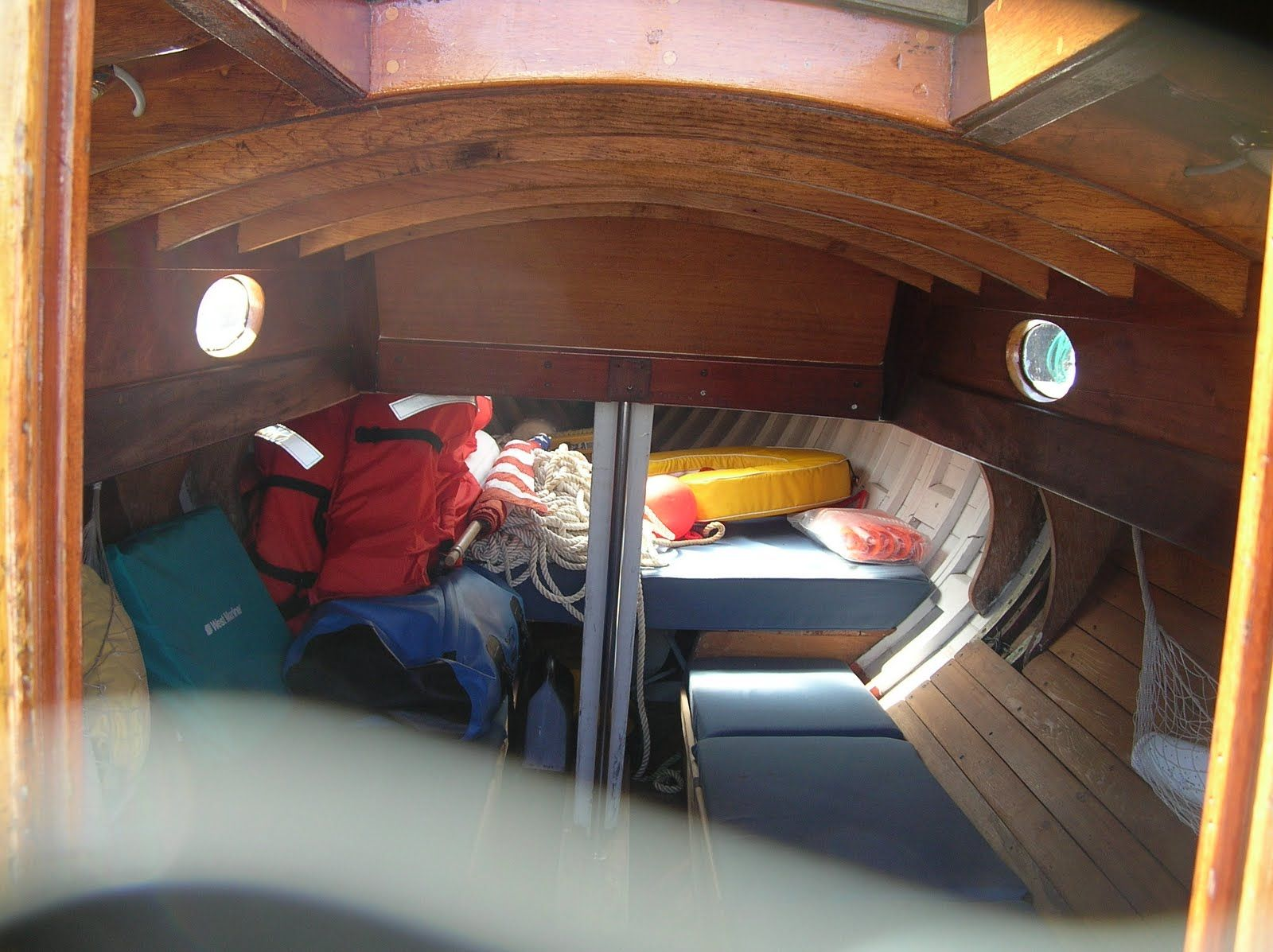interior of small boat   Sailboat interior, Boat interior ...