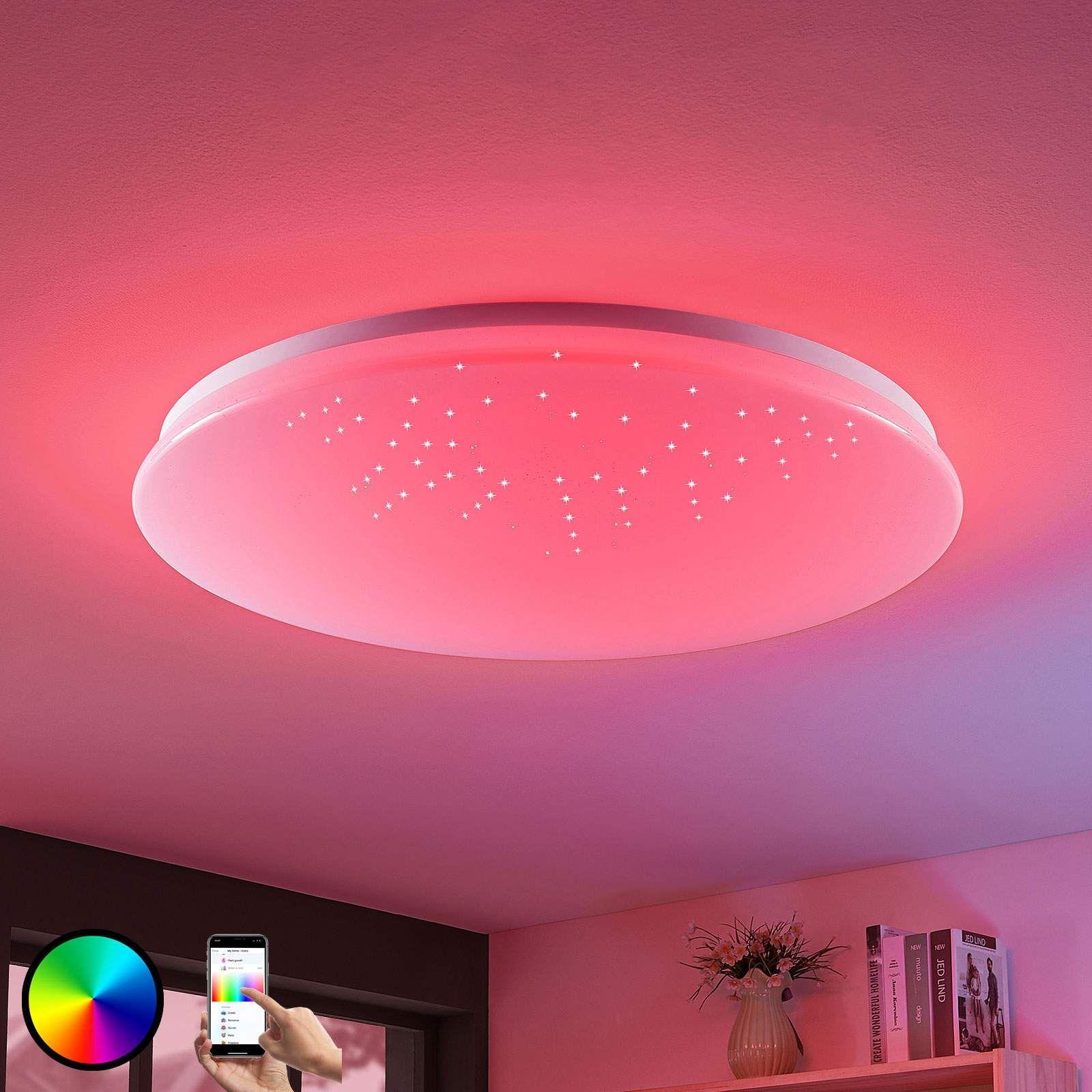 Led Deckenlampe Marlie Wiz Technologie Rund Led Deckenlampen Deckenlampe Und Led
