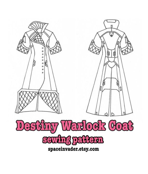 Destiny Warlock coat SEWING PATTERN by SpaceInvader on Etsy ...