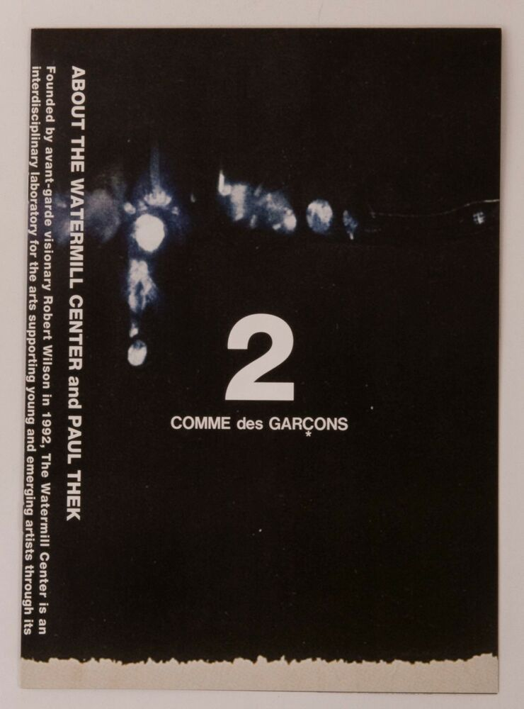 COMME des GARCONS Booklet 1 Flyer Paper AD George Paul Thek Rei Kawakubo Japan