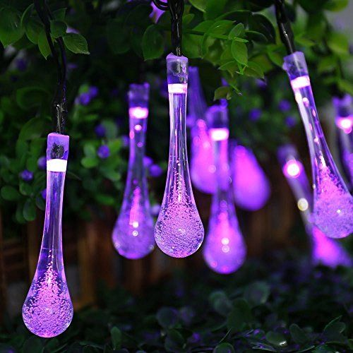 Solar Outdoor String Lights, ICICLE 157ft 8 Light Modes 20 LED - solar christmas decorations