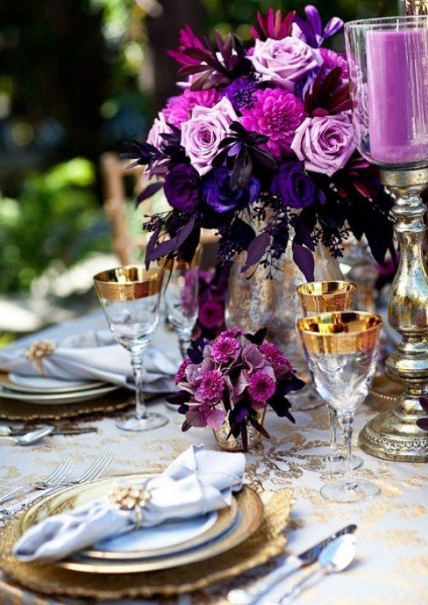 Jul26hues you ll heart purple and goldhues you ll heart purple purple wedding aisle flower dcor wedding ceremony flowers pew flowers wedding flowers add pic source on comment and we will update it can create this junglespirit Choice Image