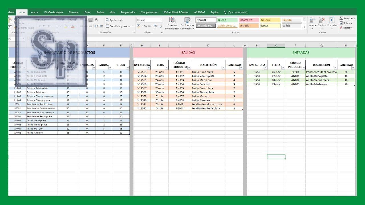 Pin En Todo Sobre Excel Como hacer inventario en excel