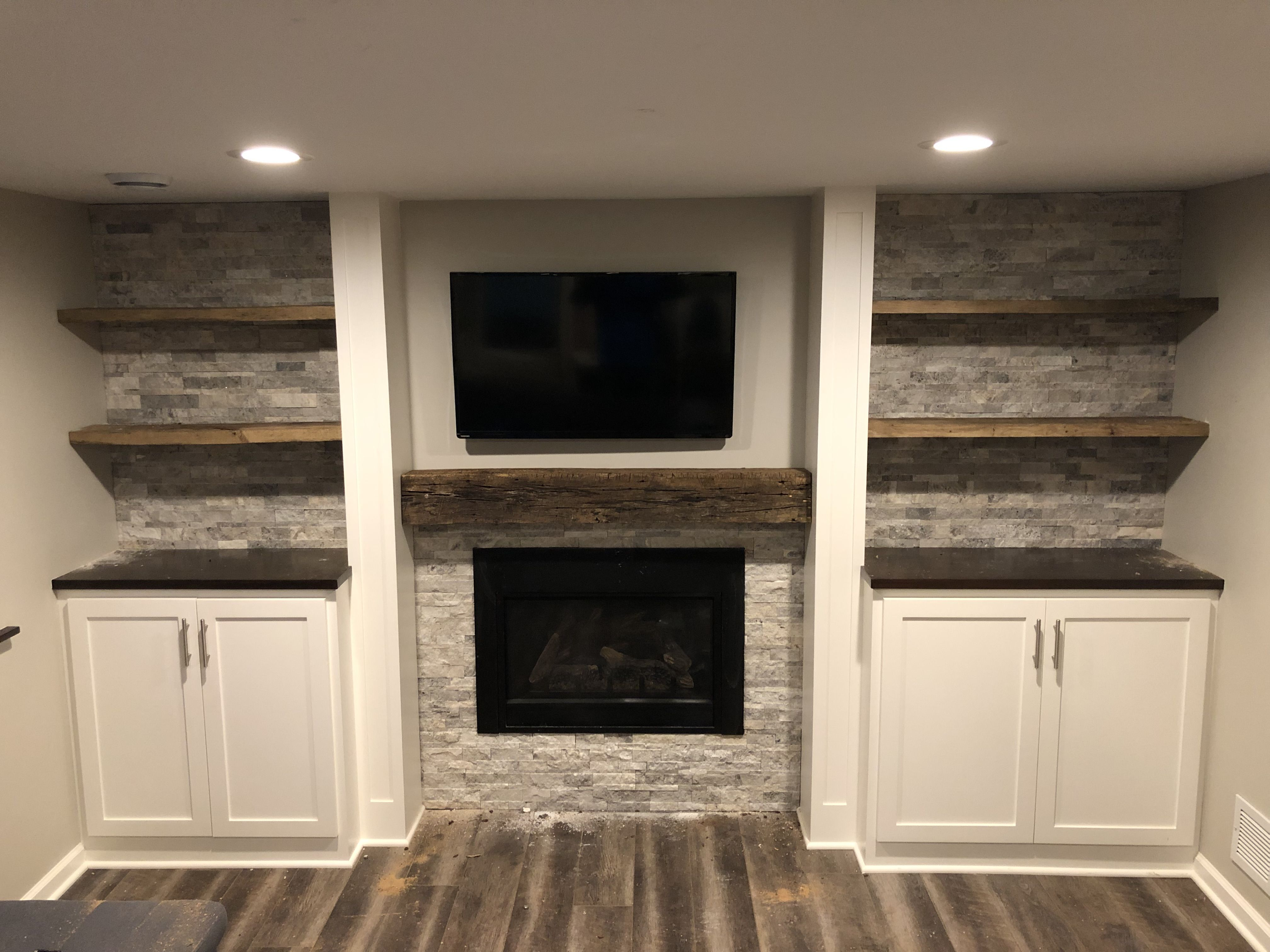 Basement Fireplace Built In Minnetonka Mn Fireplace Built Ins Fireplace Remodel Basement Guest Rooms
