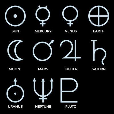 Pillustration Of Planetary Astronomical Symbols P Art