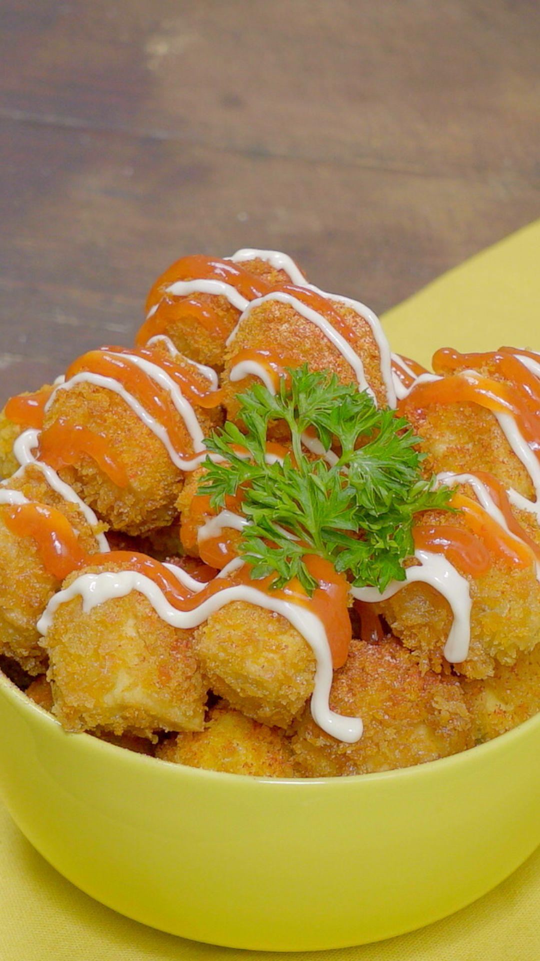 Video Pompom Tahu Makanan Dan Minuman Masakan Vegetarian Resep Makanan Beku